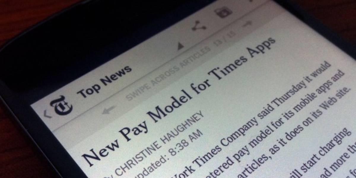 El New York Times limitará el acceso gratuito desde dispositivos móviles