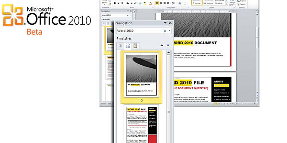 Microsoft Office 2010 Beta disponible para descarga