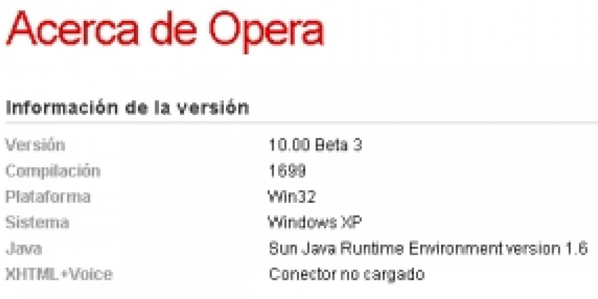 Opera 10.0 Beta 3