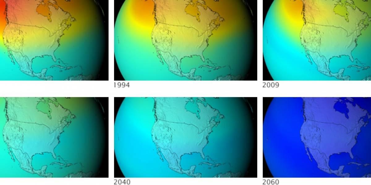 La Capa de Ozono si no se hubieran prohibido los CFC