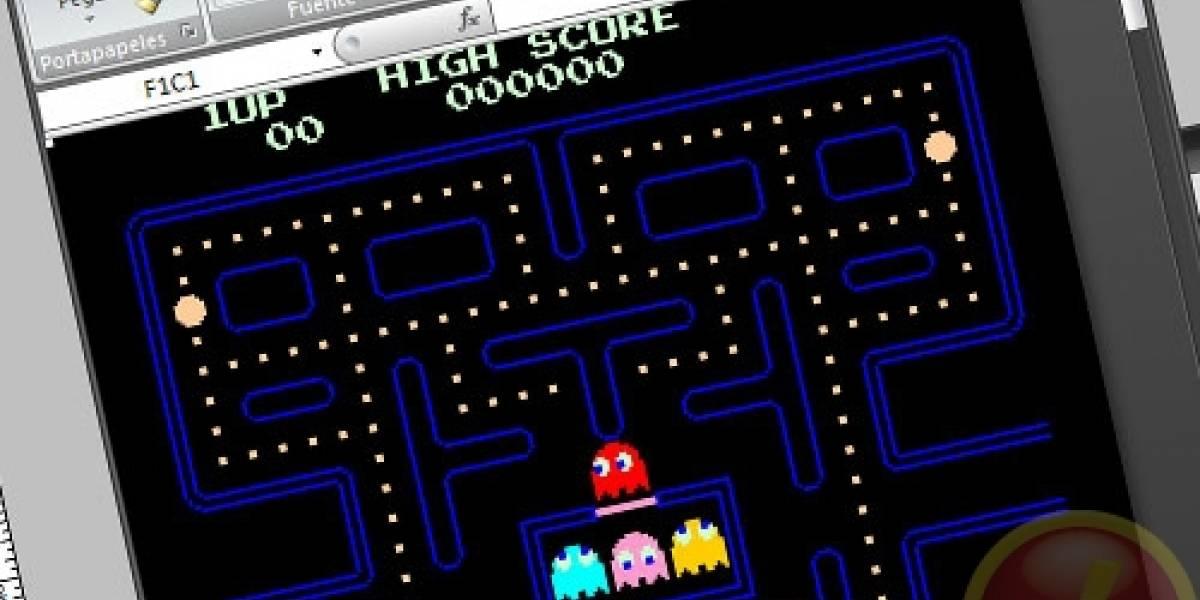 Fomingo de Pacman y Space Invaders en Excel, no falta el que está en la oficina este momento.