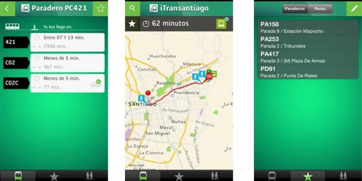 Chile: Ministerio de Transportes lanza aplicación de Transantiago para iOS