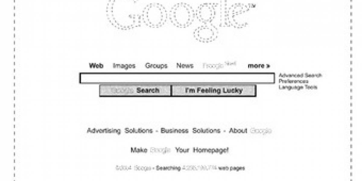 Google logra patentar su página de inicio