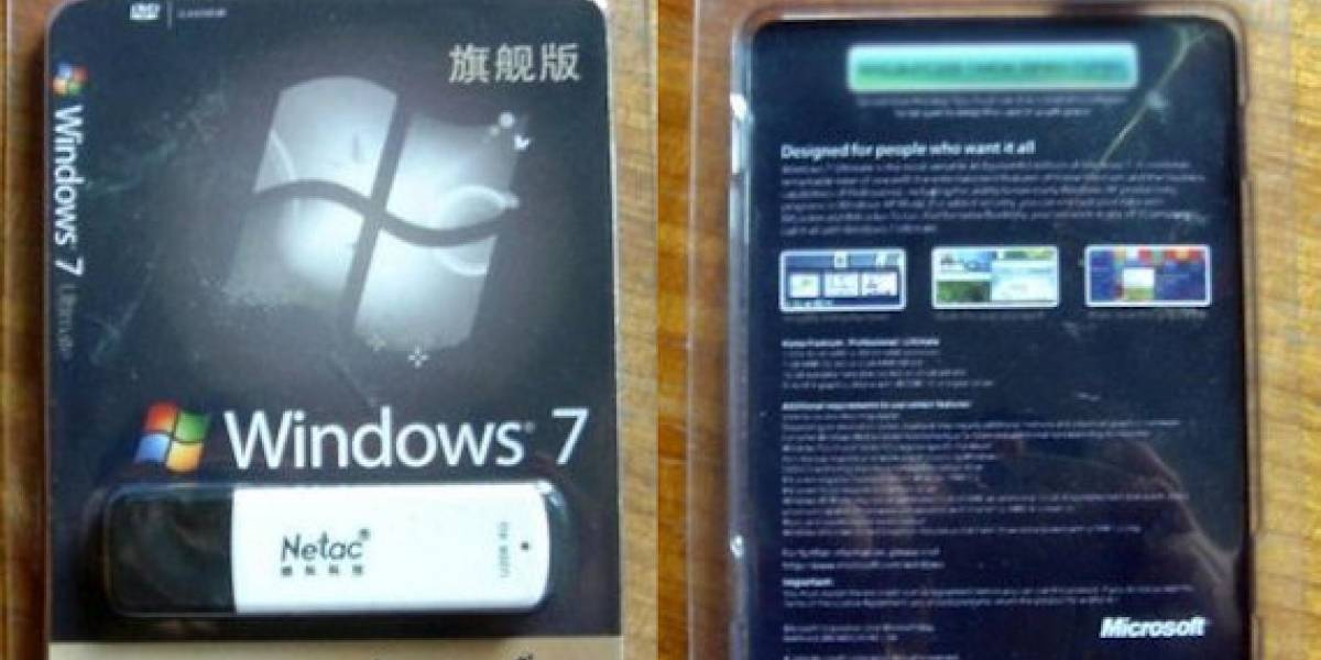 Ya existe una versión pirata de Windows 7 en pendrive