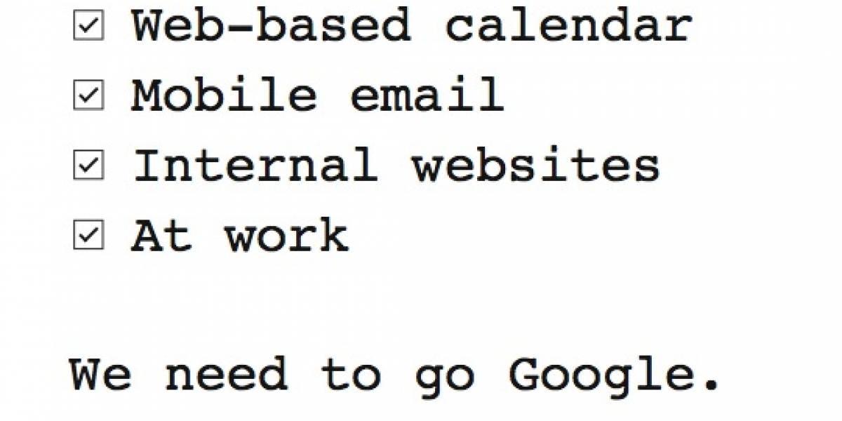 Gone Google: Campaña de Google para hacerle frente a Microsoft