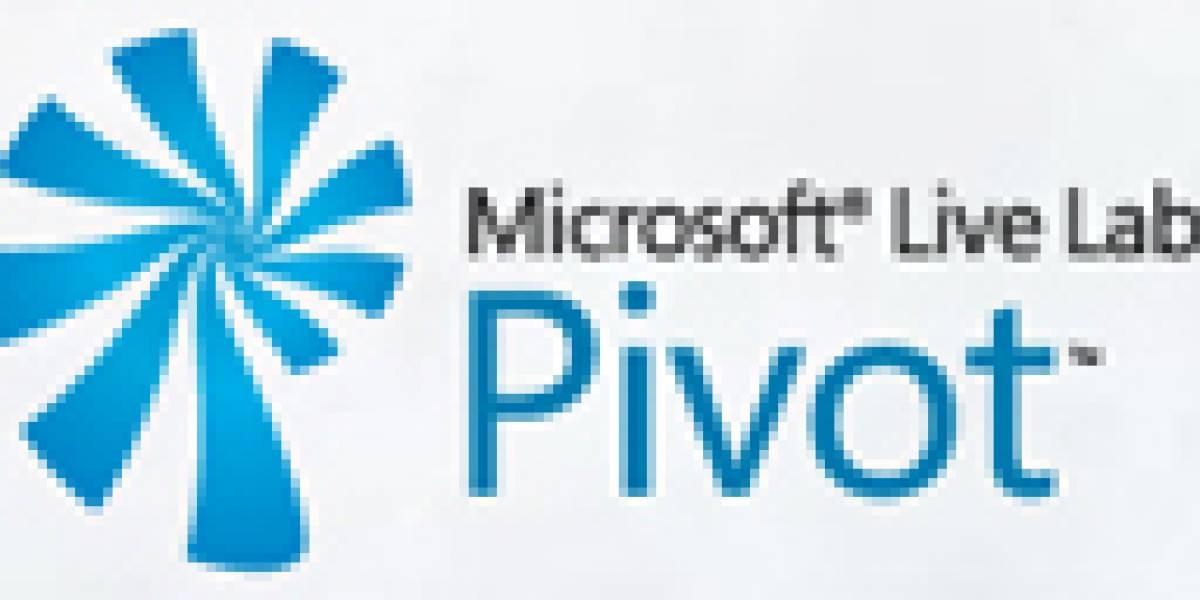 Microsoft presenta Pivot, una nueva forma de visualización