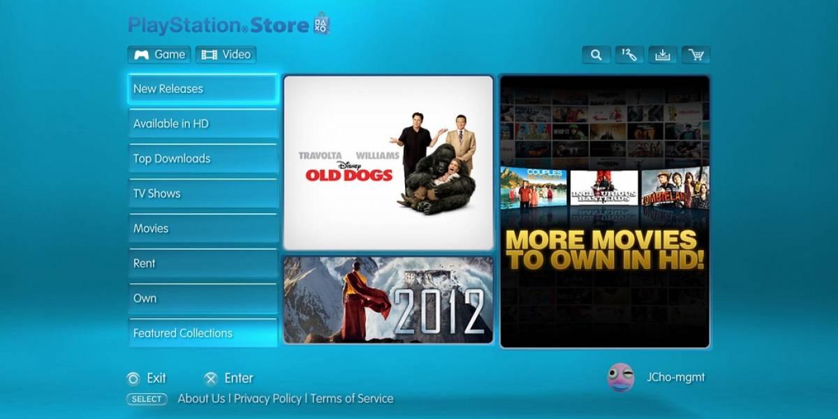 Películas en Alta Definición llegan a la PlayStation Network