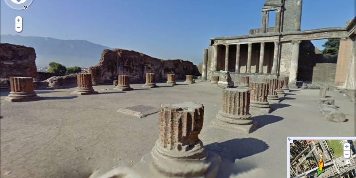 Pasea por las Ruinas de Pompeya con Google Street View