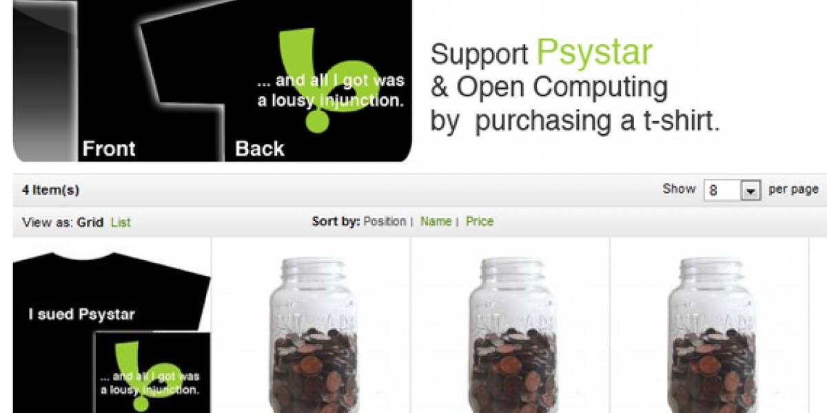 """Psystar ahora vende camisetas, una forma """"astuta"""" de distribuir Rebel EFI [Actualizado]"""
