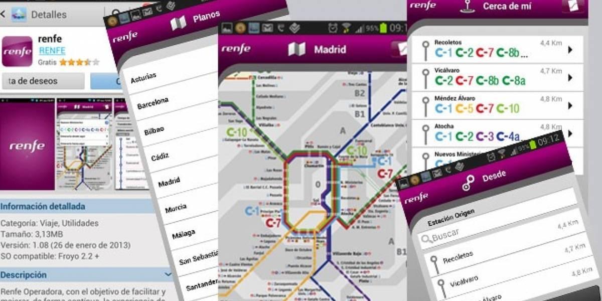 España: Aplicación gratuita de Renfe Cercanías disponible en Samsung Apps