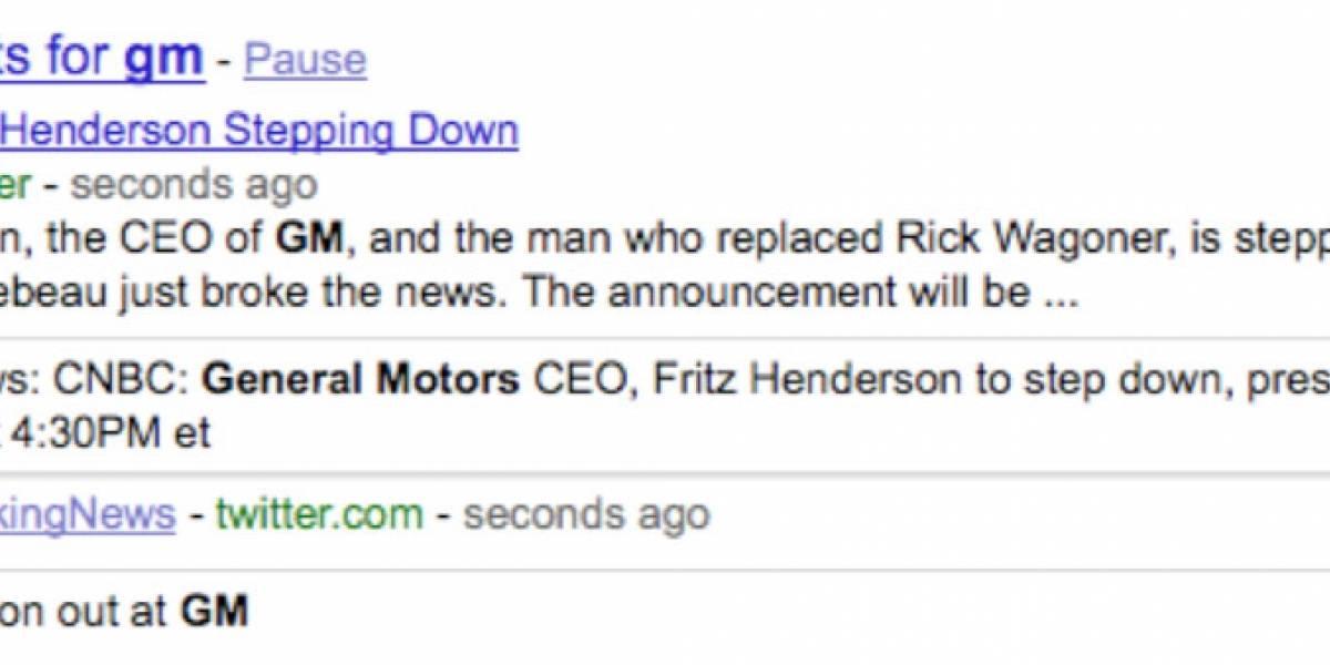 Google lanza búsquedas en tiempo real