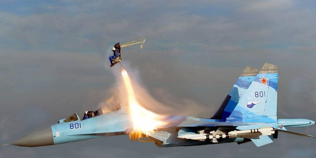 Imperdible: Imagen de un piloto expulsado a Mach 2 para una película rusa