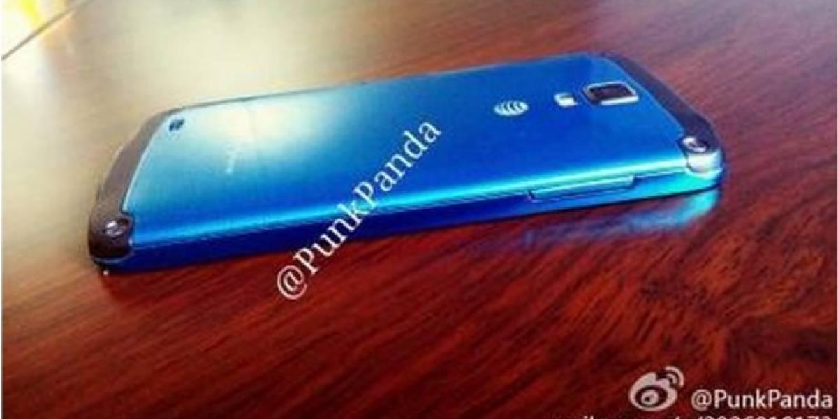 Aparece imagen de un Samsung Galaxy S4 Active de color Azul Ártico