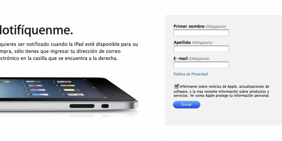 Preordenar el iPad es ilegal