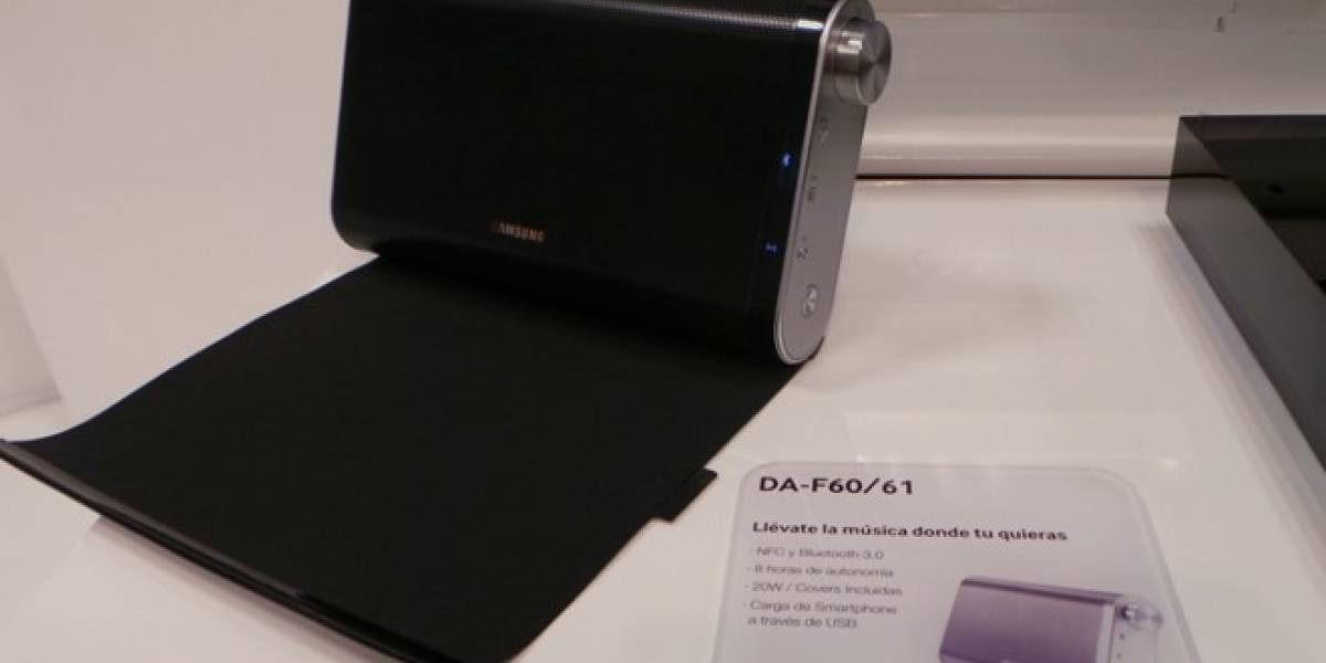 Samsung Wireless Audio Portátil DA-F61 con NFC, a primera vista