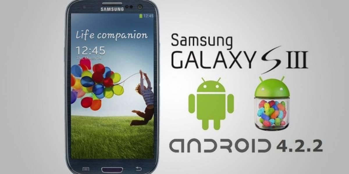 Se filtra Android 4.2.2 Jelly Bean para el Samsung Galaxy SIII, instálalo hoy mismo