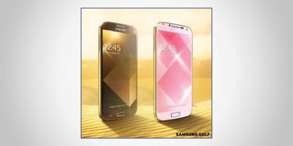 Samsung lanza su propio Galaxy S4 dorado