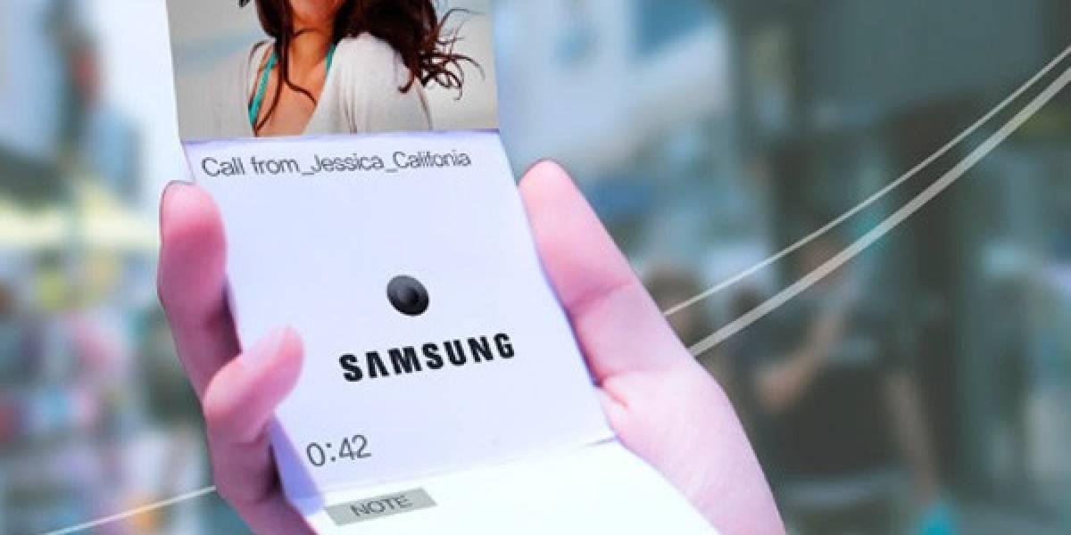 Samsung muestra imágenes de supuestos dispositivos con pantalla flexible