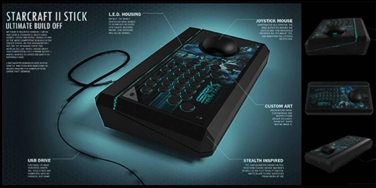 Así se juega StarCraft II con un joystick