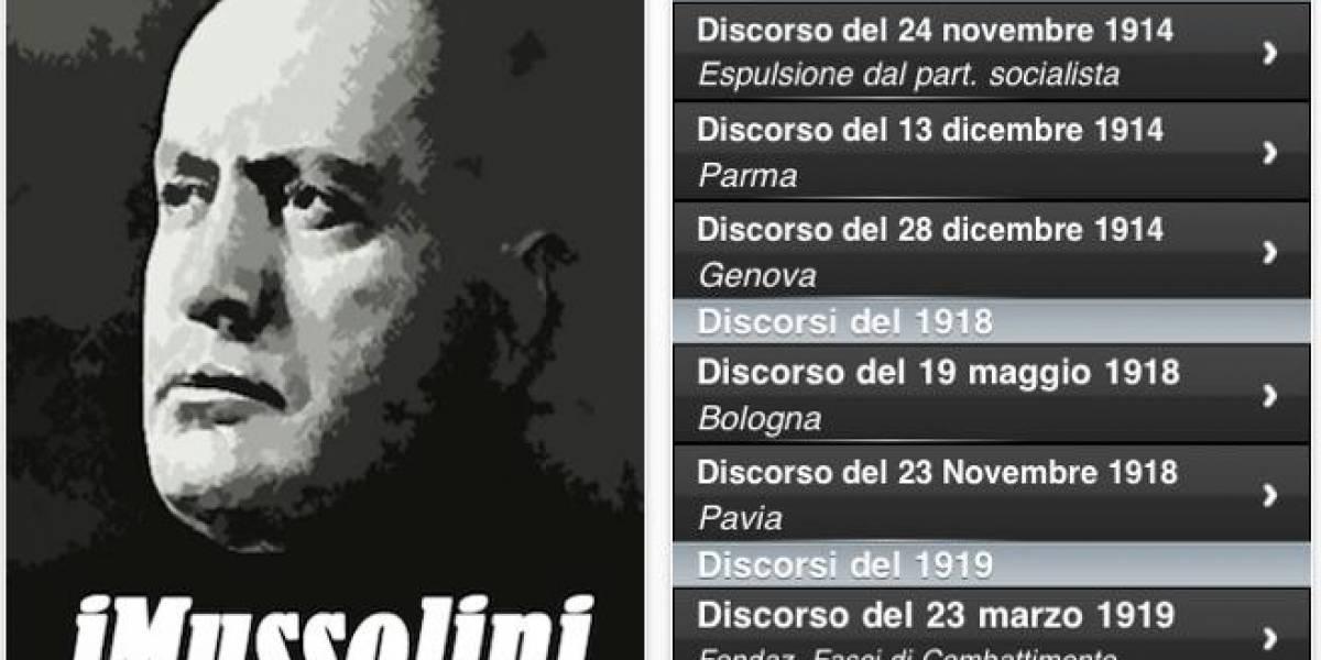 Italia: Discursos de Mussolini son récord de descarga para iPhone