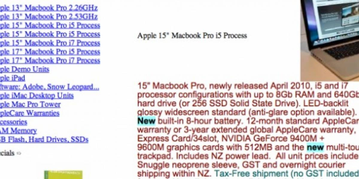 Rumor: MacBook Pro Core i5/i7 estarían listos en Abril