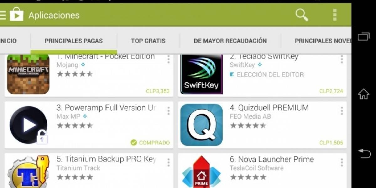 Google Play Store ahora muestra el precio de las apps en moneda local en 25 países