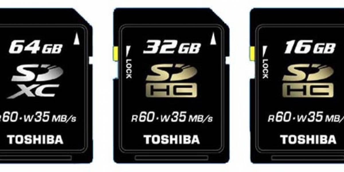 Toshiba presenta tarjetas SDXC de 64GB