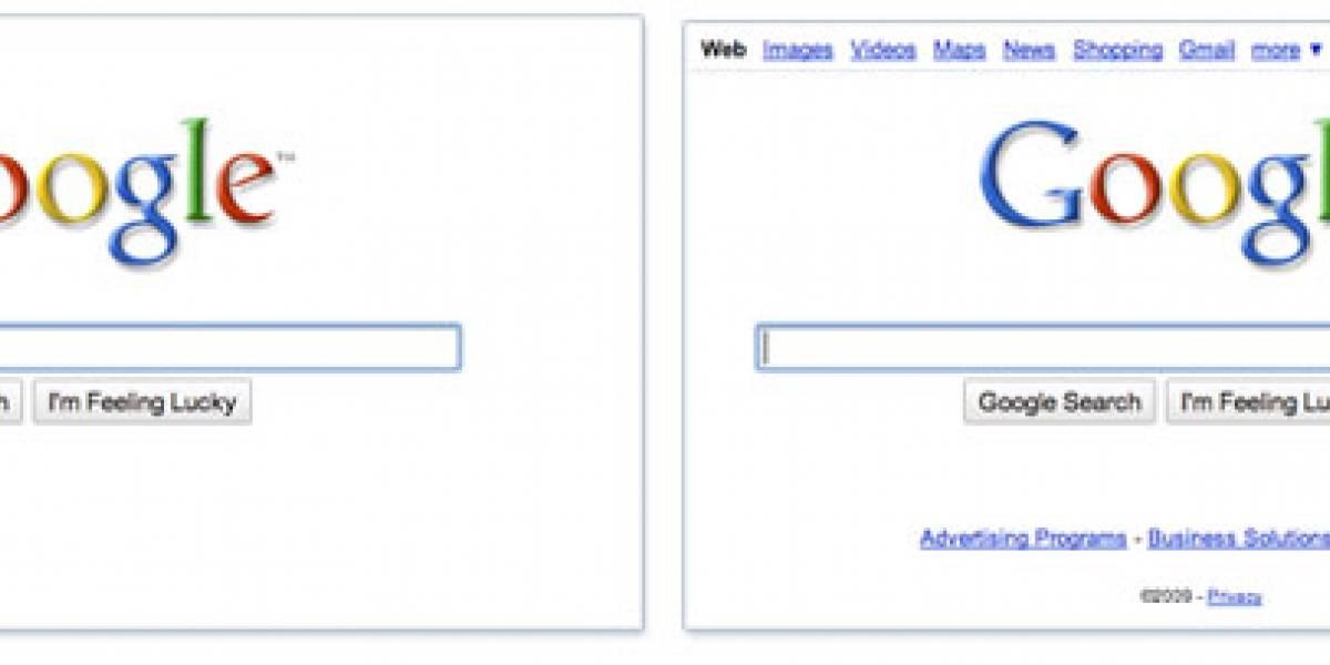 Google simplifica aun más su página de inicio