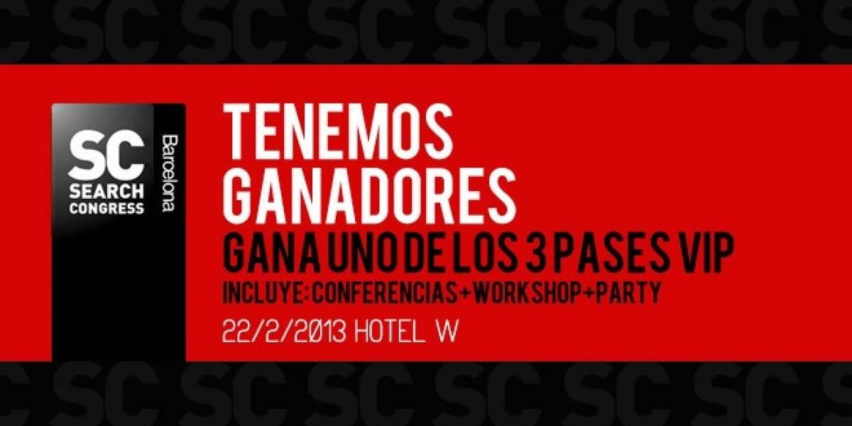 España: Tenemos ganadores de las entradas VIP para el SearchCongress Barcelona 2013