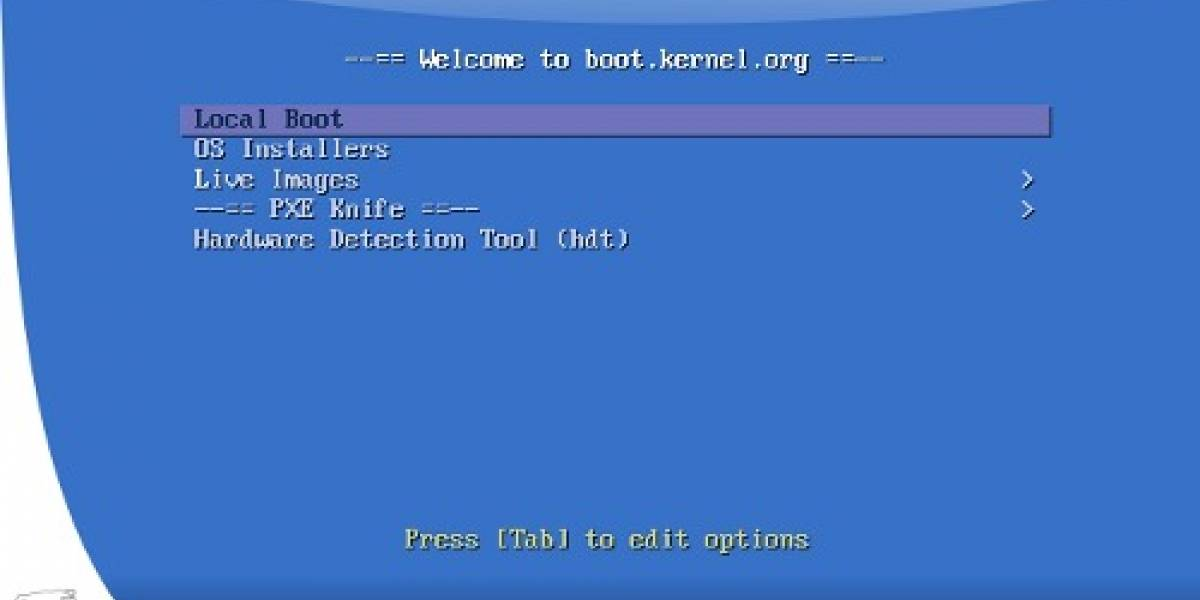 Inicia Linux desde Internet con boot.kernel.org