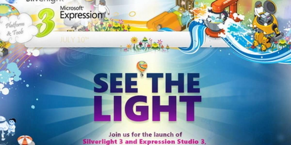 Microsoft Silverlight 3 y Expression Studio 3 para julio