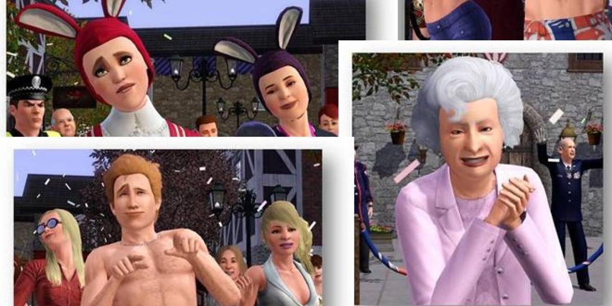 Los Sims 3 se auto-invitan al jubileo de diamante de la reina Isabel II de Inglaterra