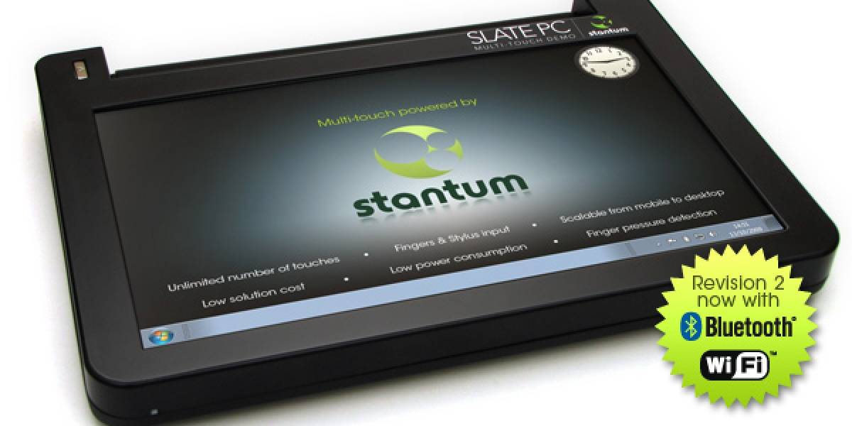 Stantum presentó un Netbook con pantalla resistiva multitáctil