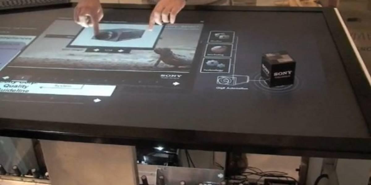 Sony y Atracsys trabajan en una mesa multitáctil e interfaces sin contacto