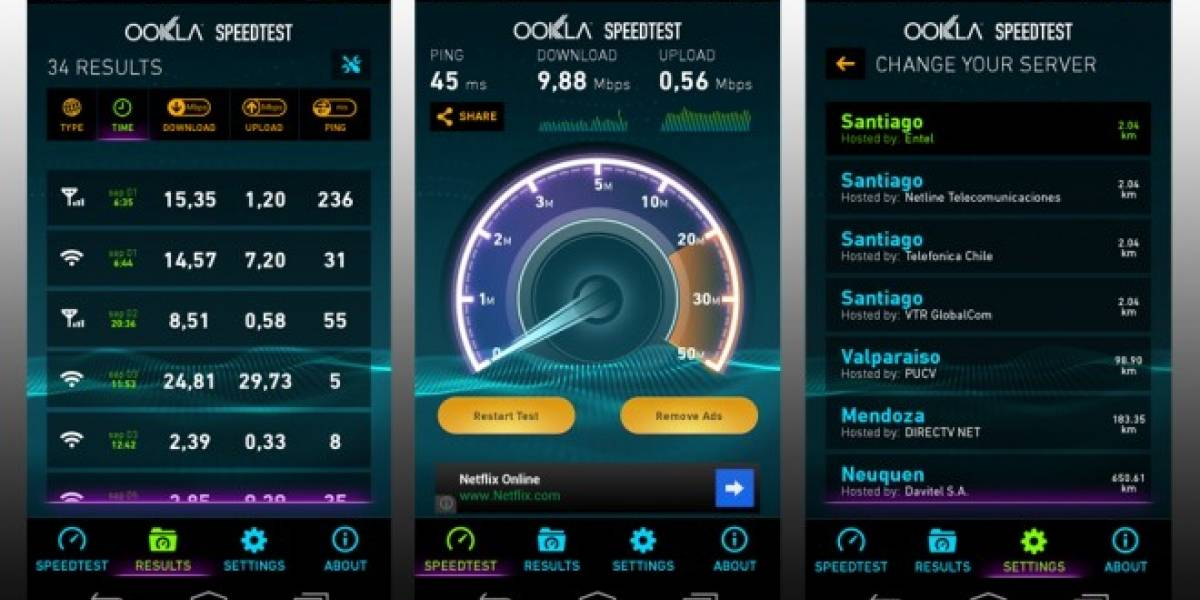 Speedtest 3.0 ya se encuentra disponible para Android