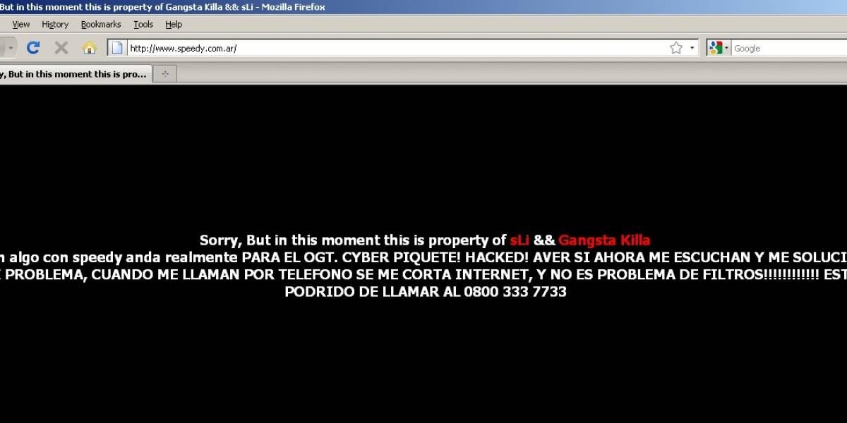 Argentina: cliente enojado hackea sitio del ISP Speedy