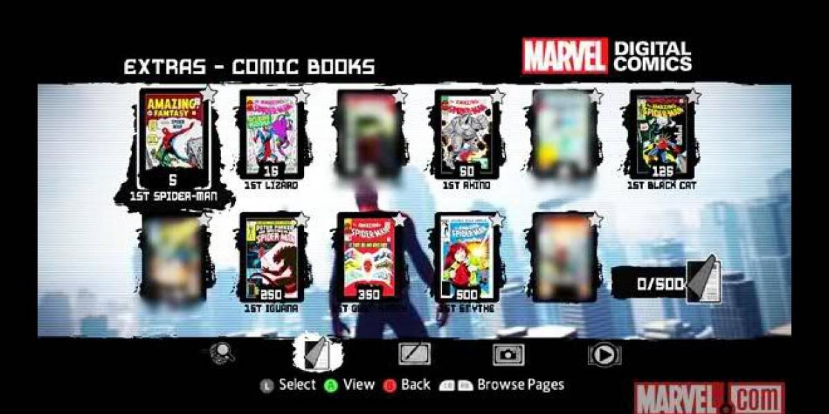 The Amazing Spider-Man incluirá 10 legendarios cómics desbloqueables