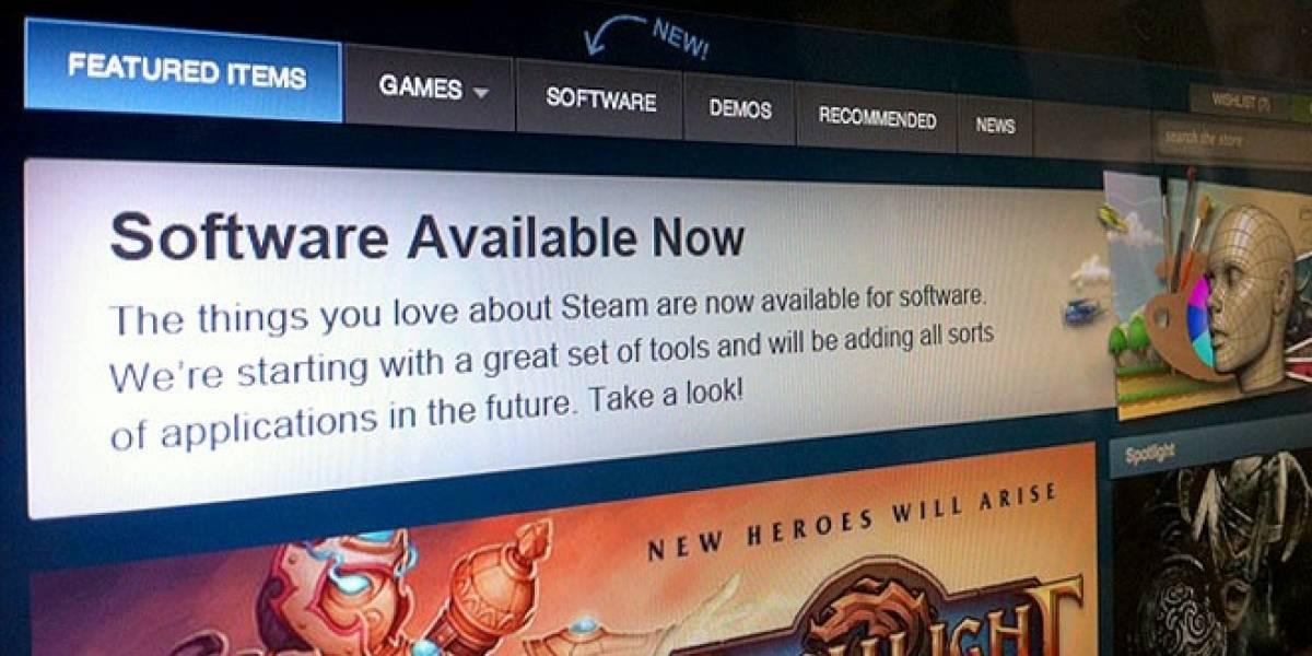 Steam comienza la venta de toda clase de software