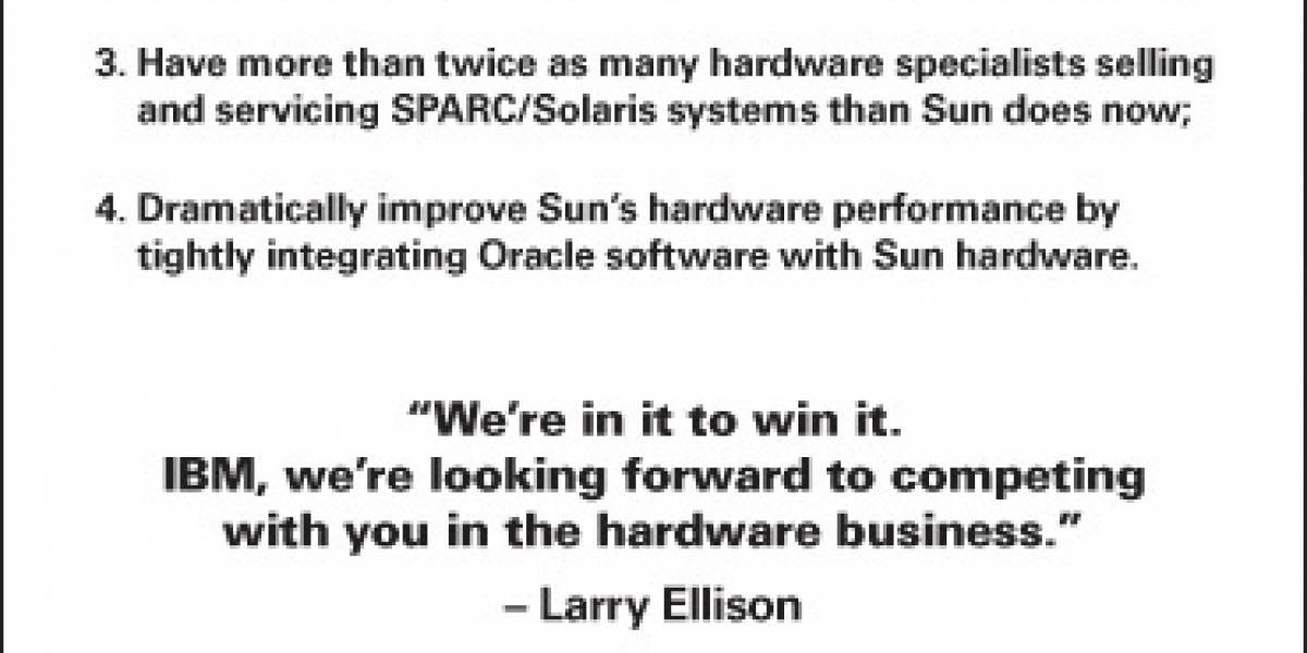 Oracle realiza promesas a clientes de Sun, sin menciones a MySQL
