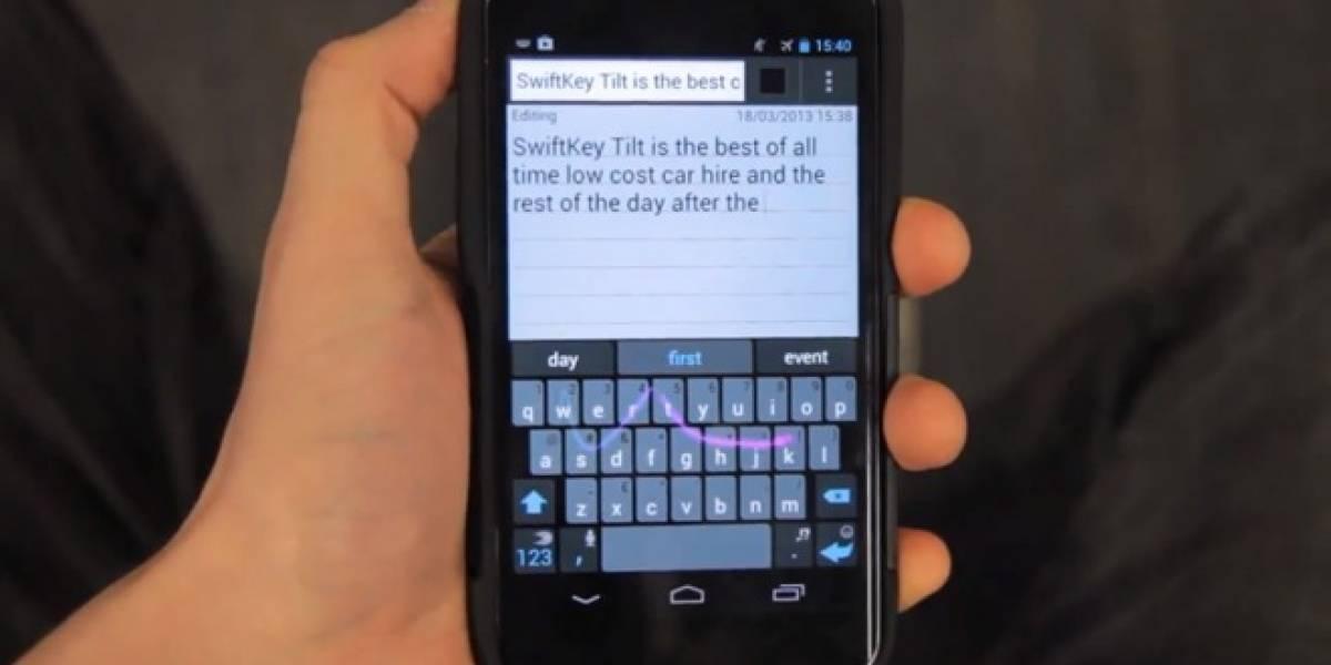 SwiftKey Tilt, la fusión de la expresión corporal y escribir en un celular