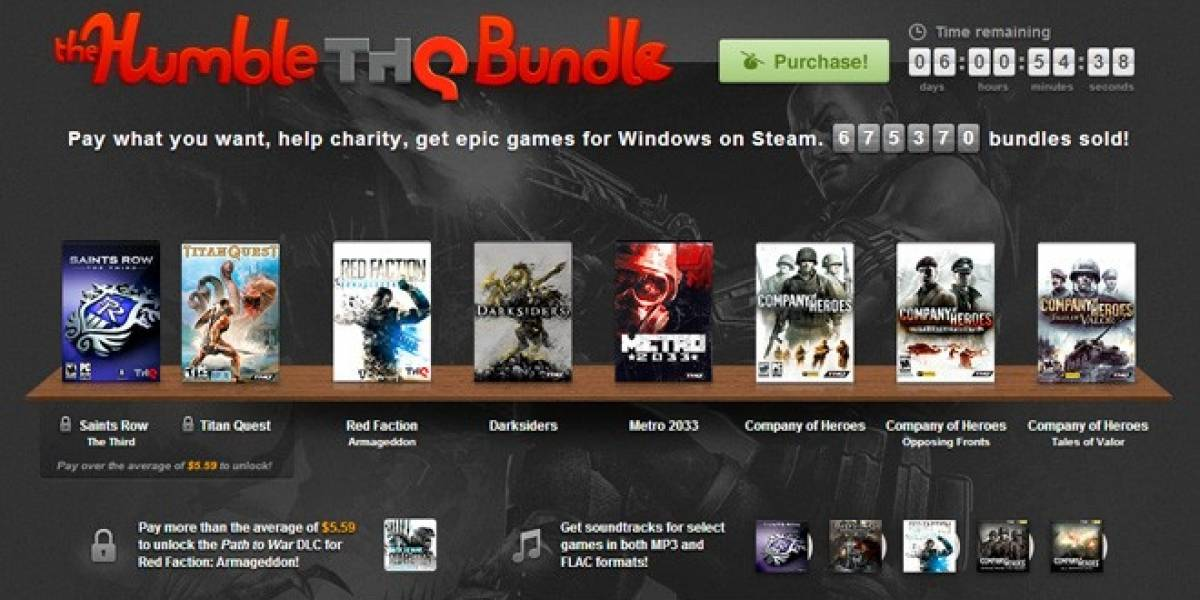 The Humble THQ Bundle agrega un juego y DLC gratis al paquete