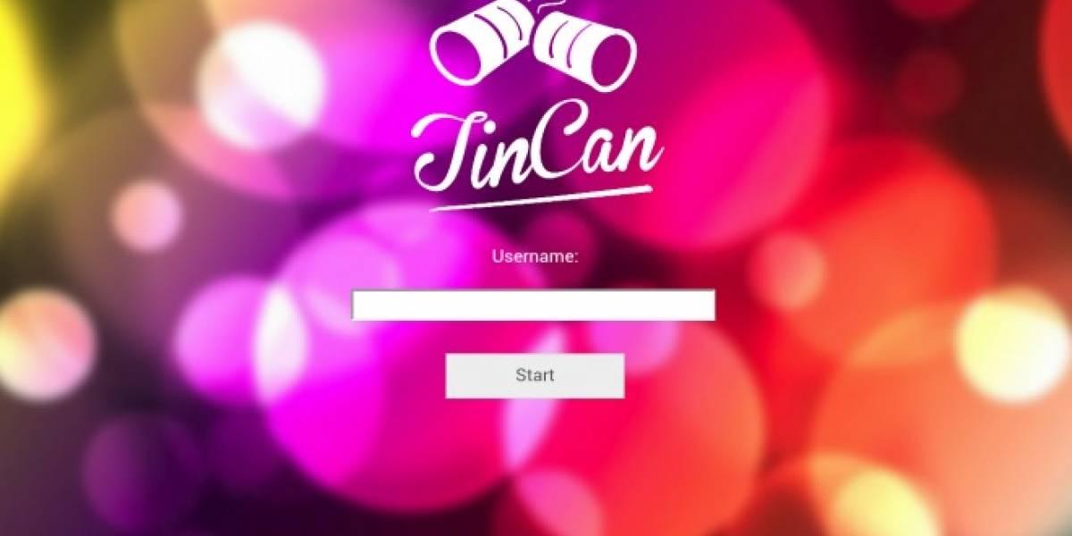 TinCan te permite chatear sin absolutamente ningún tipo de cobertura móvil o hotspots