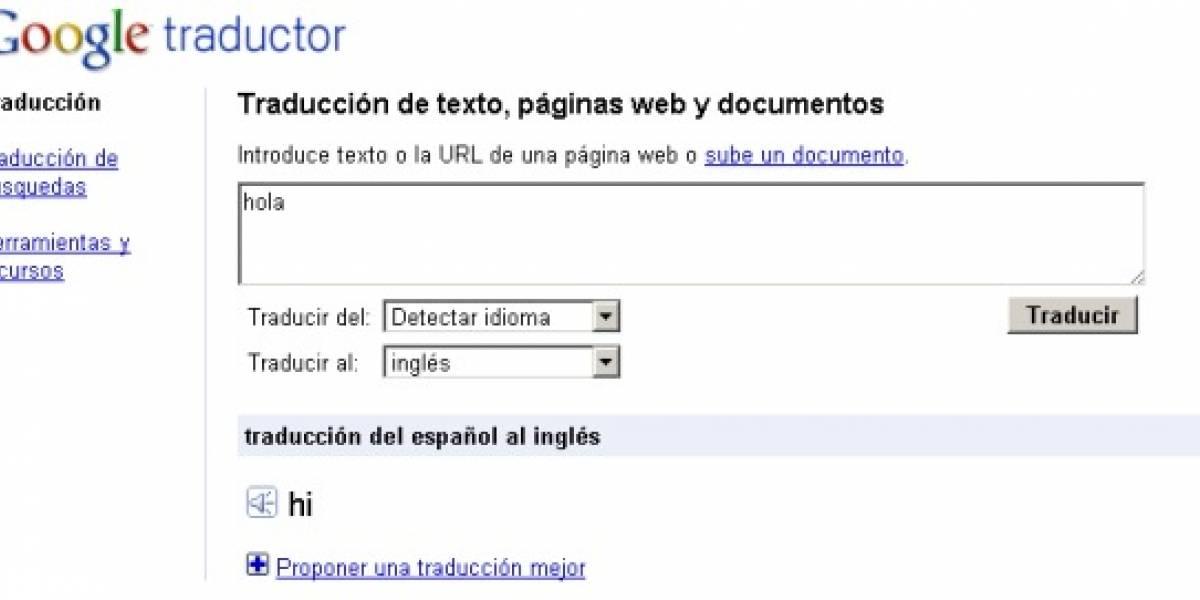 Traductor de Google en tiempo real y con pronunciación sintetizada