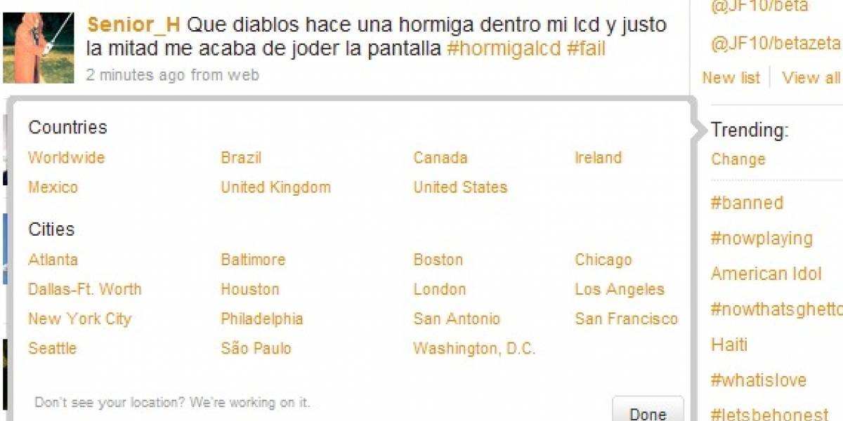Twitter: Tendencias o Trending Topics Locales