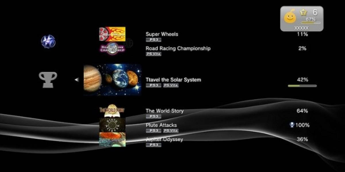 Nueva actualización de firmware de la PS3 trae algunos cambios a la lista de trofeos