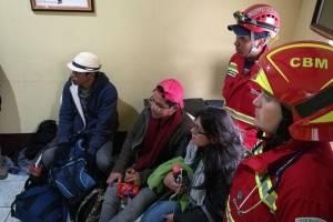 turistas extraviados en el volcán de Pacaya