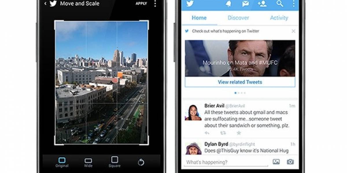 Twitter para Android se actualiza con mejora en la herramienta para subir fotos