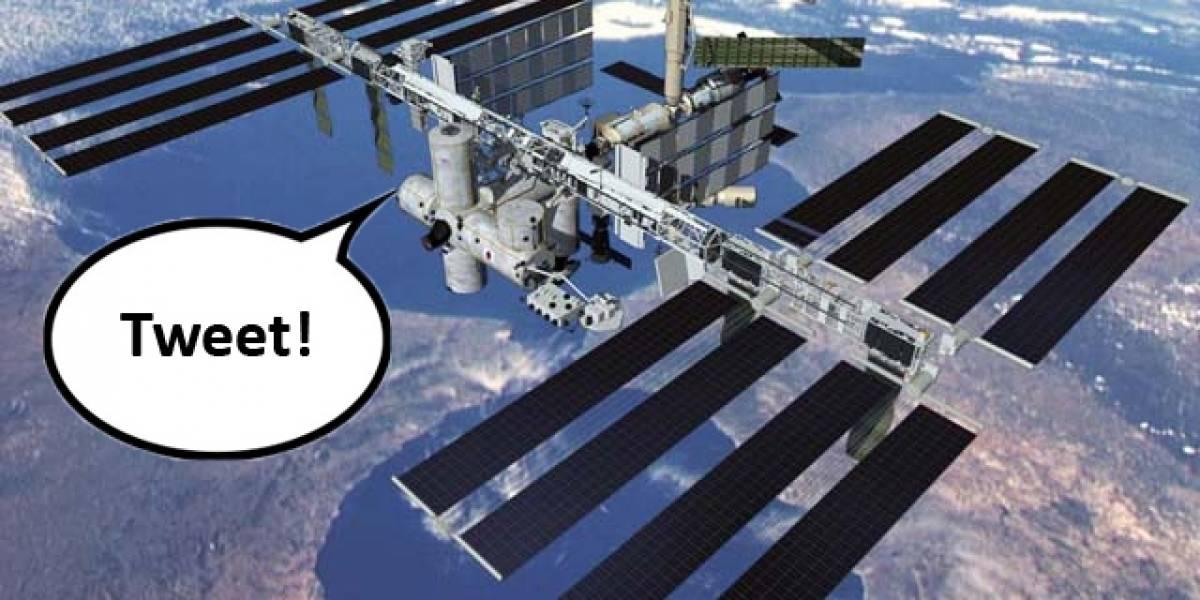 El primer tweet en vivo desde el espacio