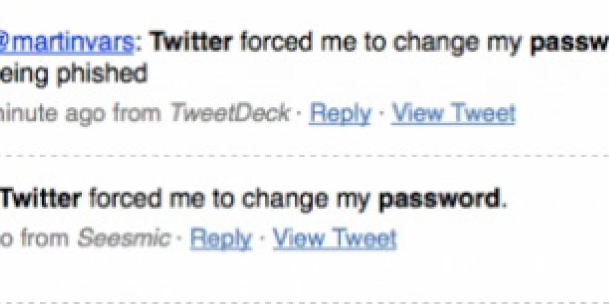 Twitter recomienda cambiar algunas contraseñas afectadas por phishing
