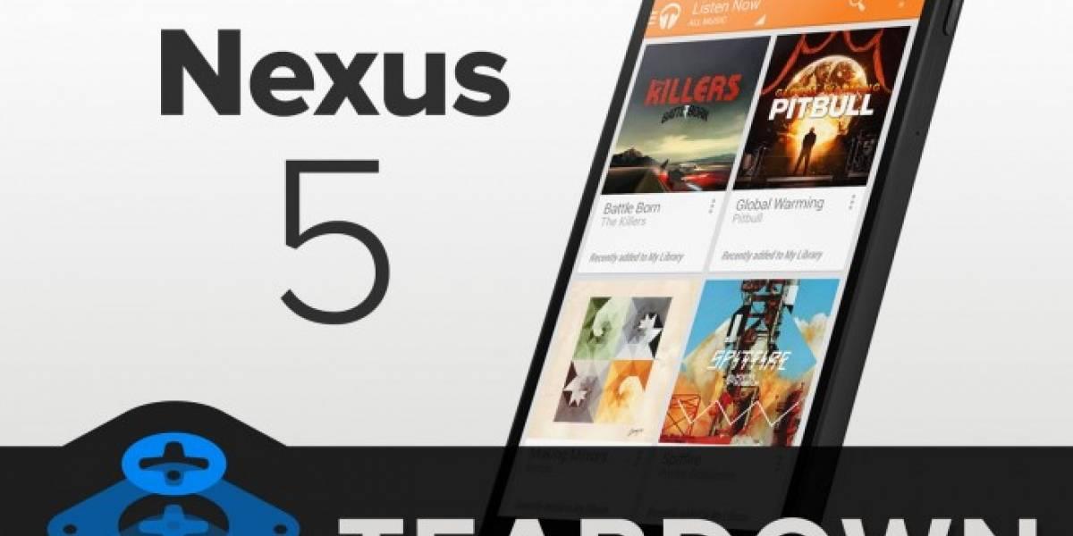 Nexus 5 demuestra que es fácil de reparar según iFixit